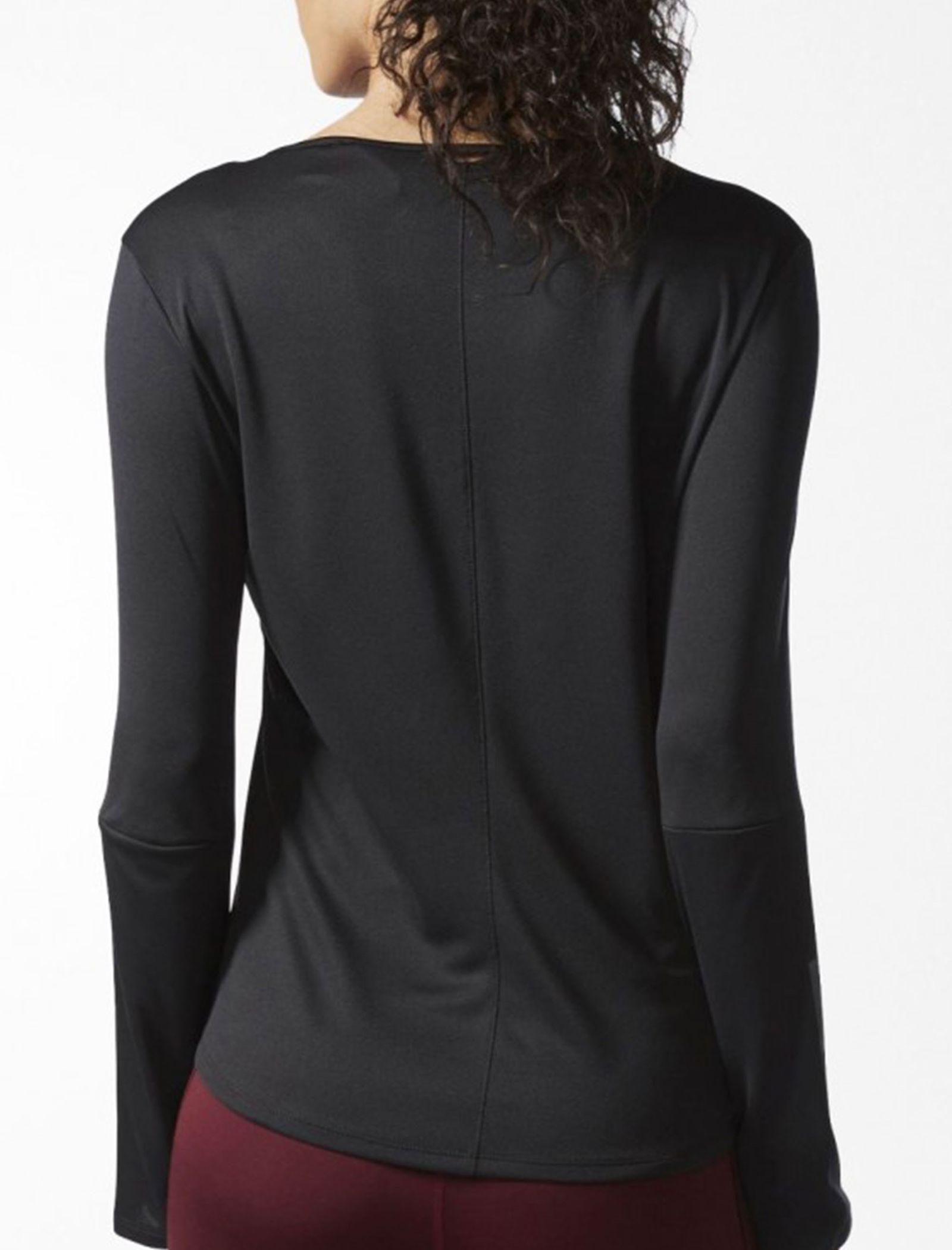 تی شرت ورزشی آستین بلند زنانه Response - آدیداس - مشکي - 5
