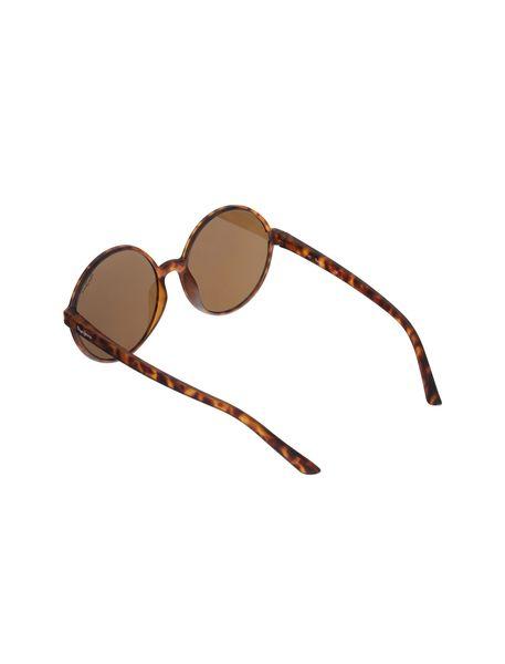 عینک آفتابی گرد زنانه - قهوه اي  - 4