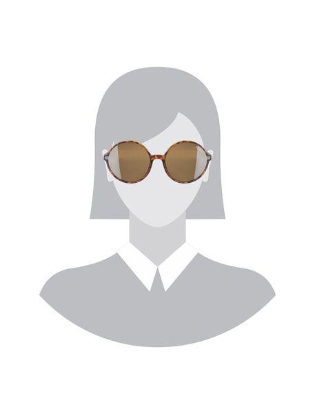 عینک آفتابی گرد زنانه - قهوه اي  - 5
