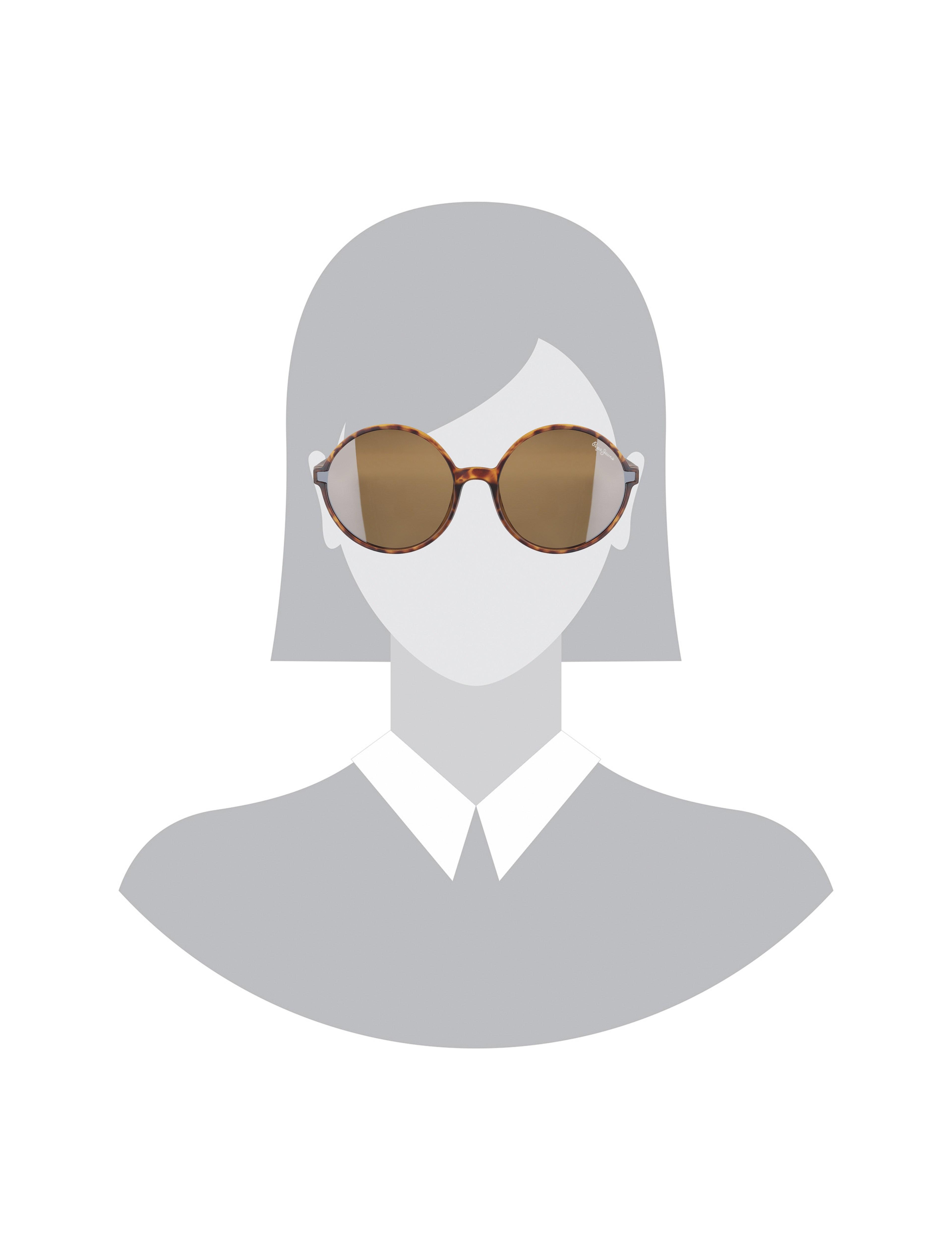 عینک آفتابی گرد زنانه - پپه جینز - قهوه اي  - 5