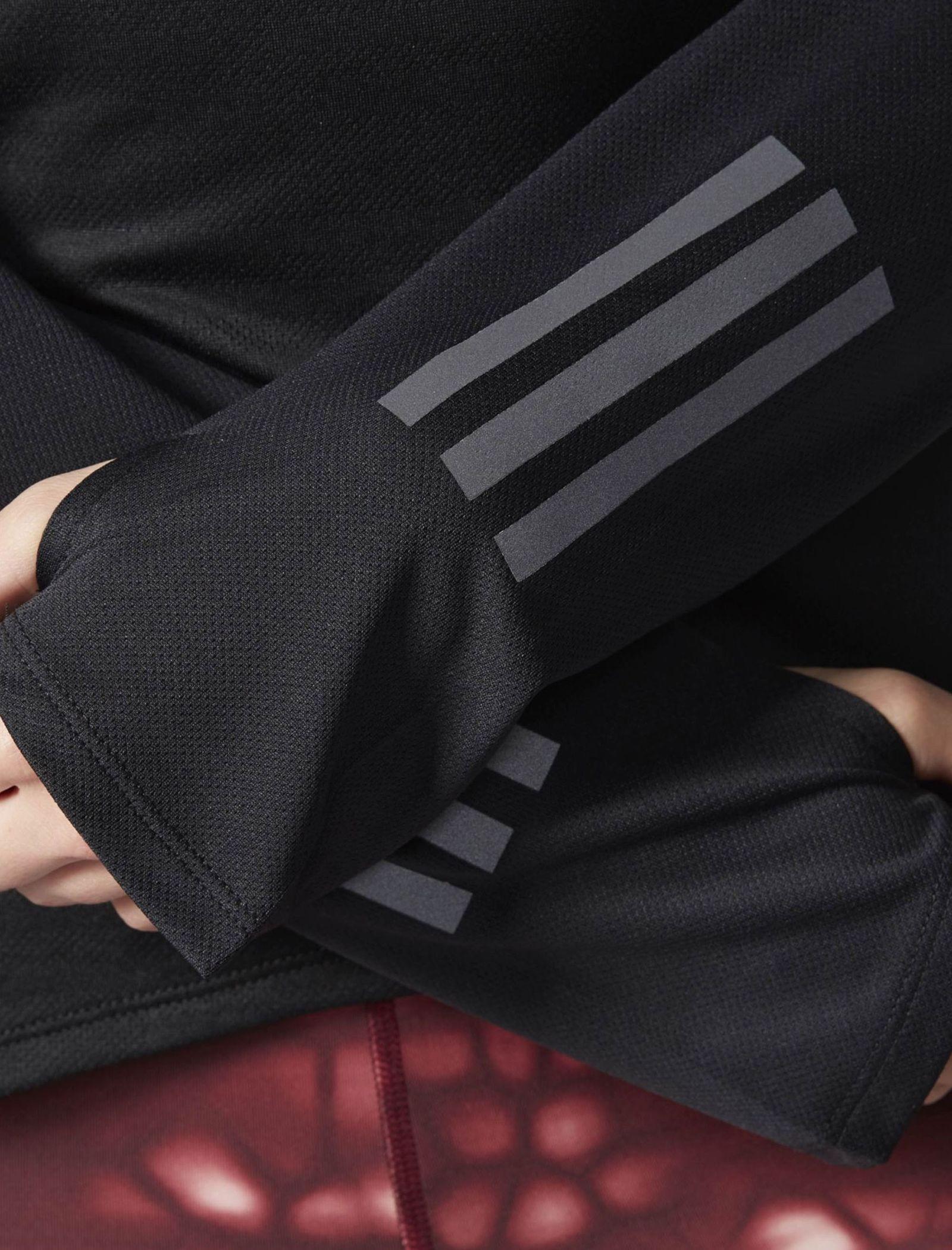 تی شرت ورزشی آستین بلند زنانه Response - آدیداس - مشکي - 6