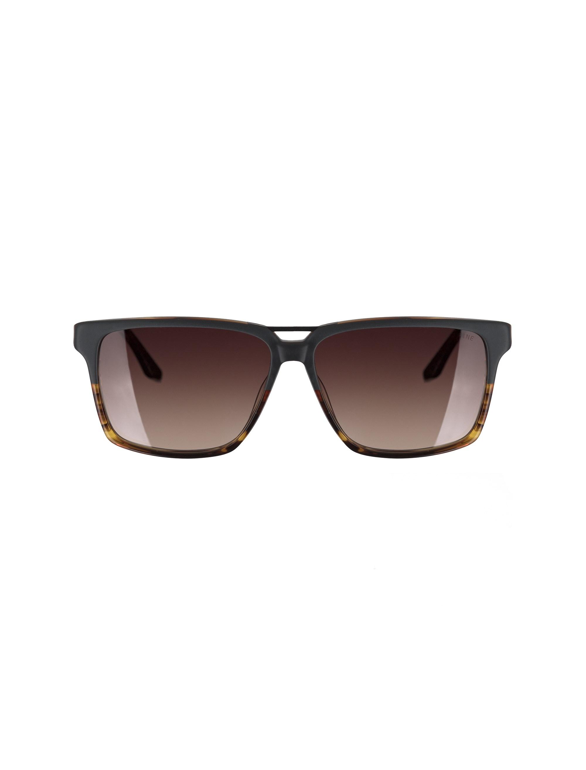 عینک آفتابی ویفرر مردانه - طوسي و قهوه اي - 1