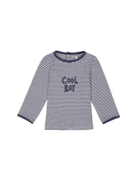 تی شرت نخی نوزادی پسرانه - آبي  - 1