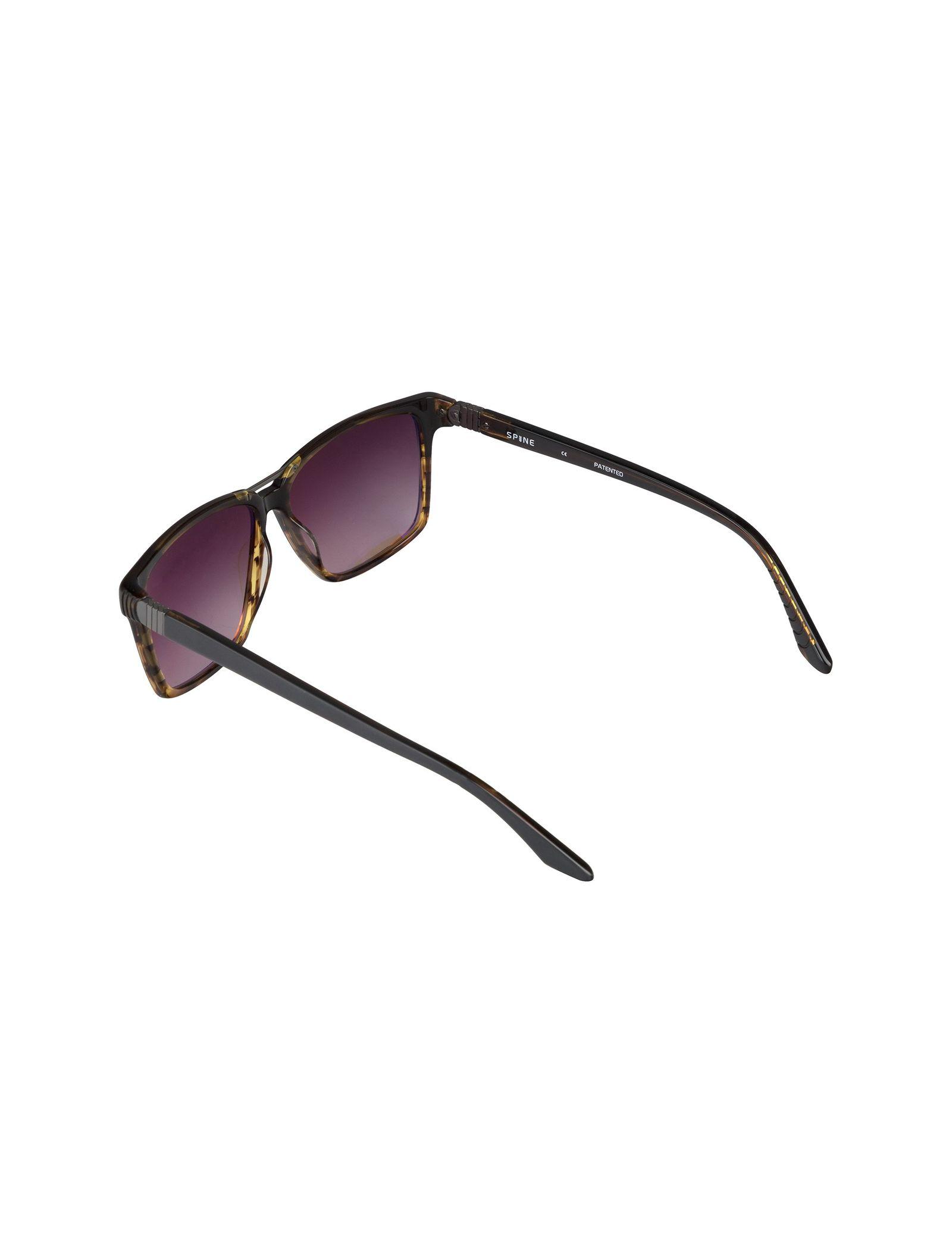 عینک آفتابی ویفرر مردانه - اسپاین - طوسي و قهوه اي - 4