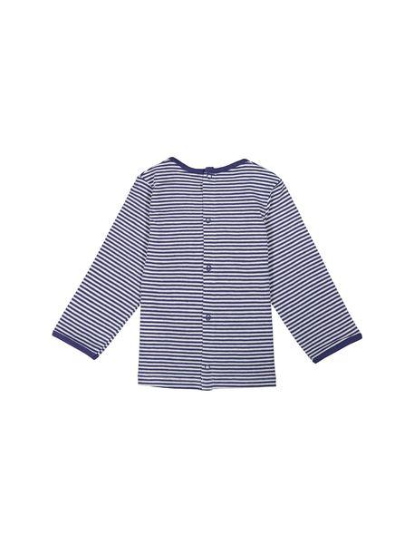 تی شرت نخی نوزادی پسرانه - آبي  - 2
