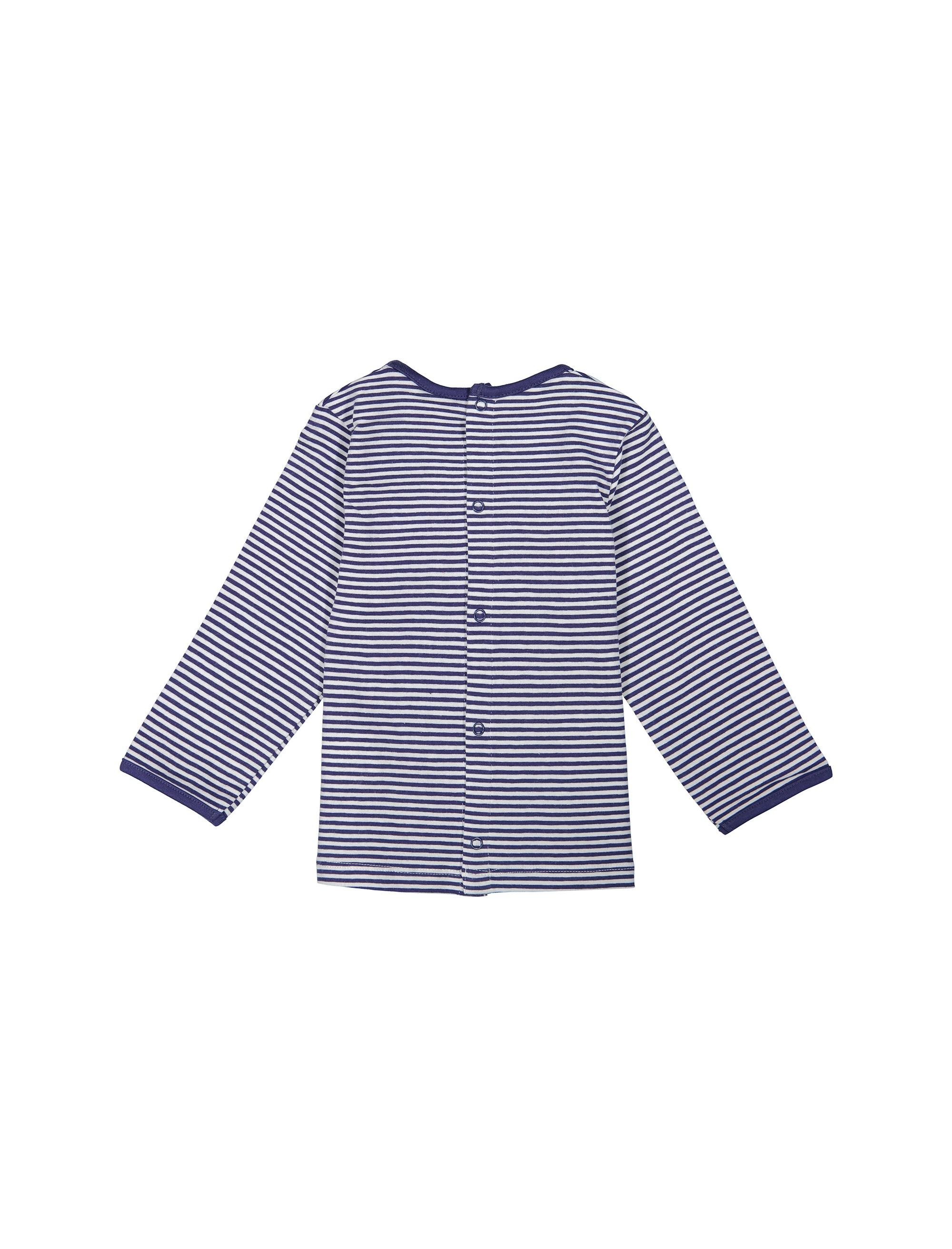 تی شرت نخی نوزادی پسرانه - ارکسترا - آبي  - 2