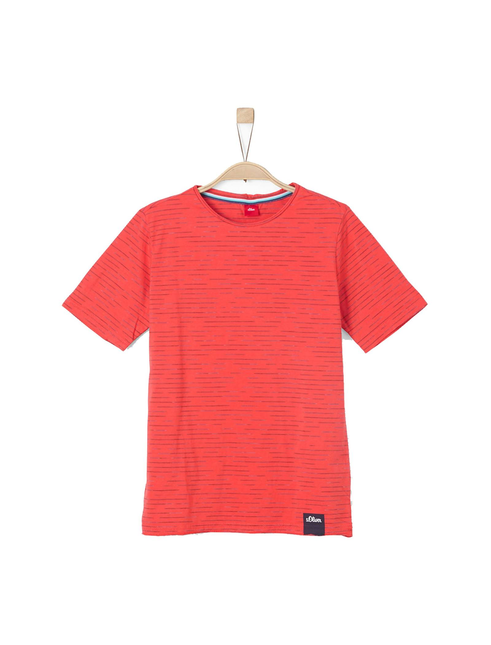 تی شرت نخی یقه گرد پسرانه - اس.اولیور - قرمز - 1