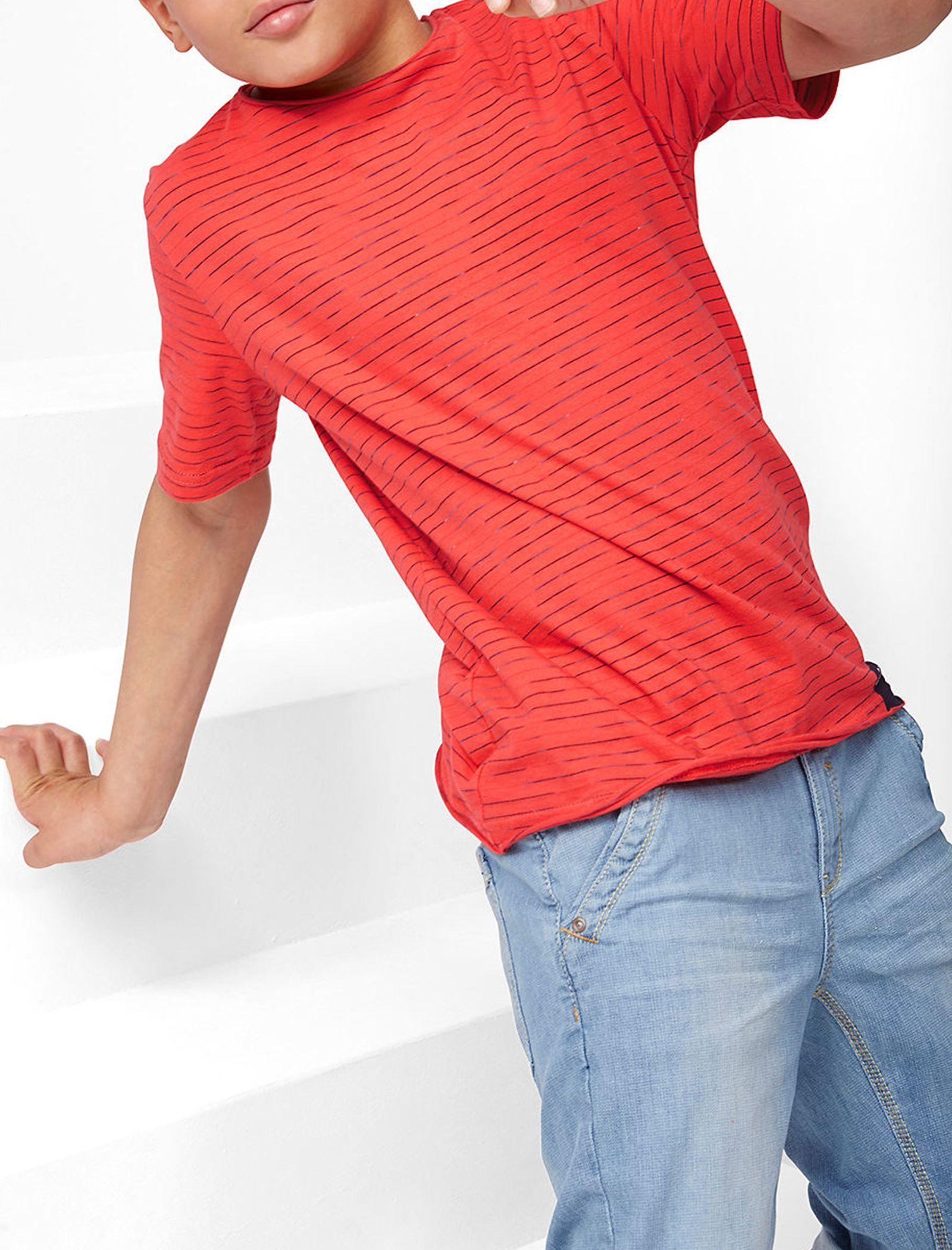 تی شرت نخی یقه گرد پسرانه - اس.اولیور - قرمز - 4