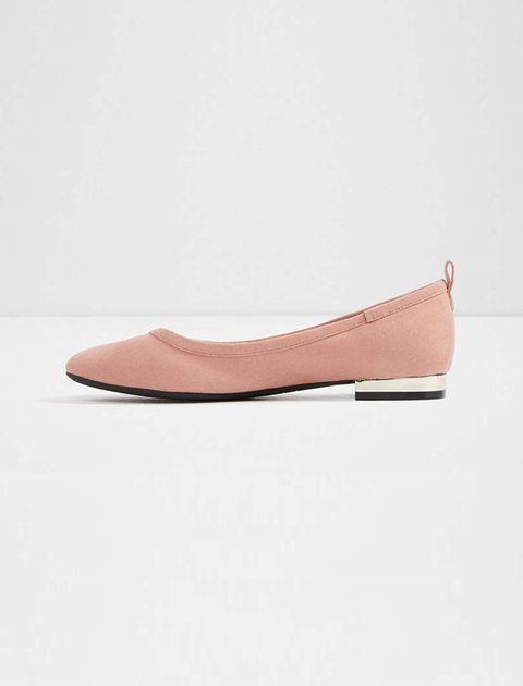 کفش تخت عروسکی زنانه - صورتي - 2