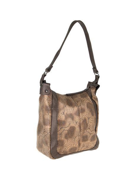 کیف دوشی روزمره زنانه - قهوه اي روشن - 4