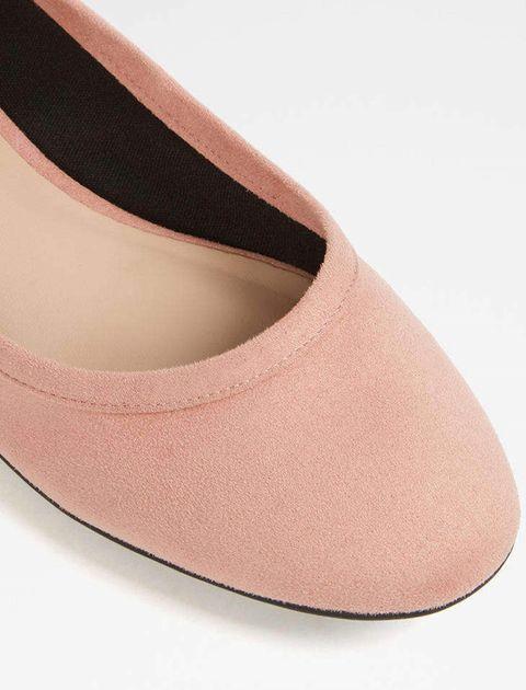 کفش تخت عروسکی زنانه - صورتي - 4