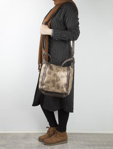 کیف دوشی روزمره زنانه - قهوه اي روشن - 7