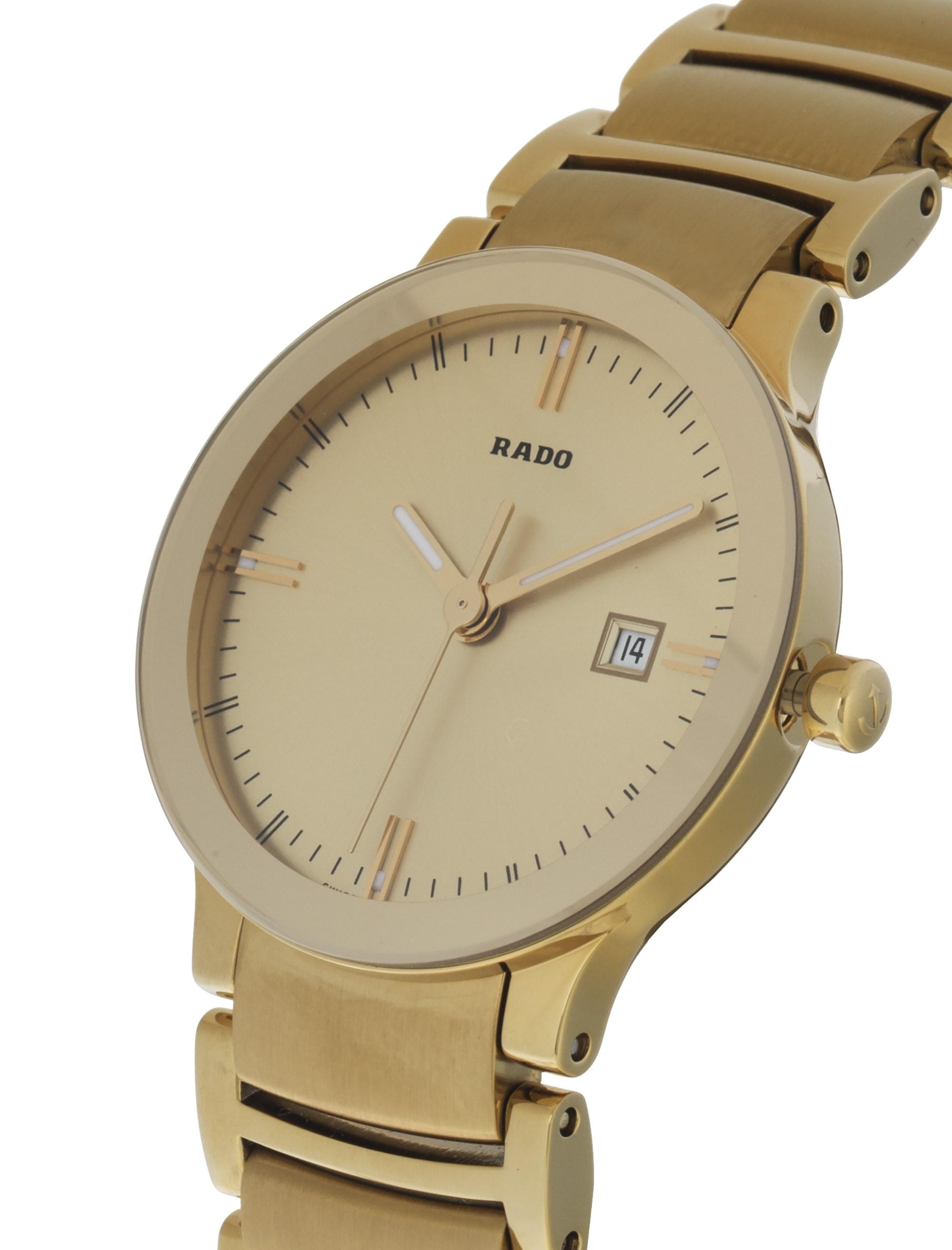 ساعت مچی عقربه ای زنانه - رادو - طلايي - 3
