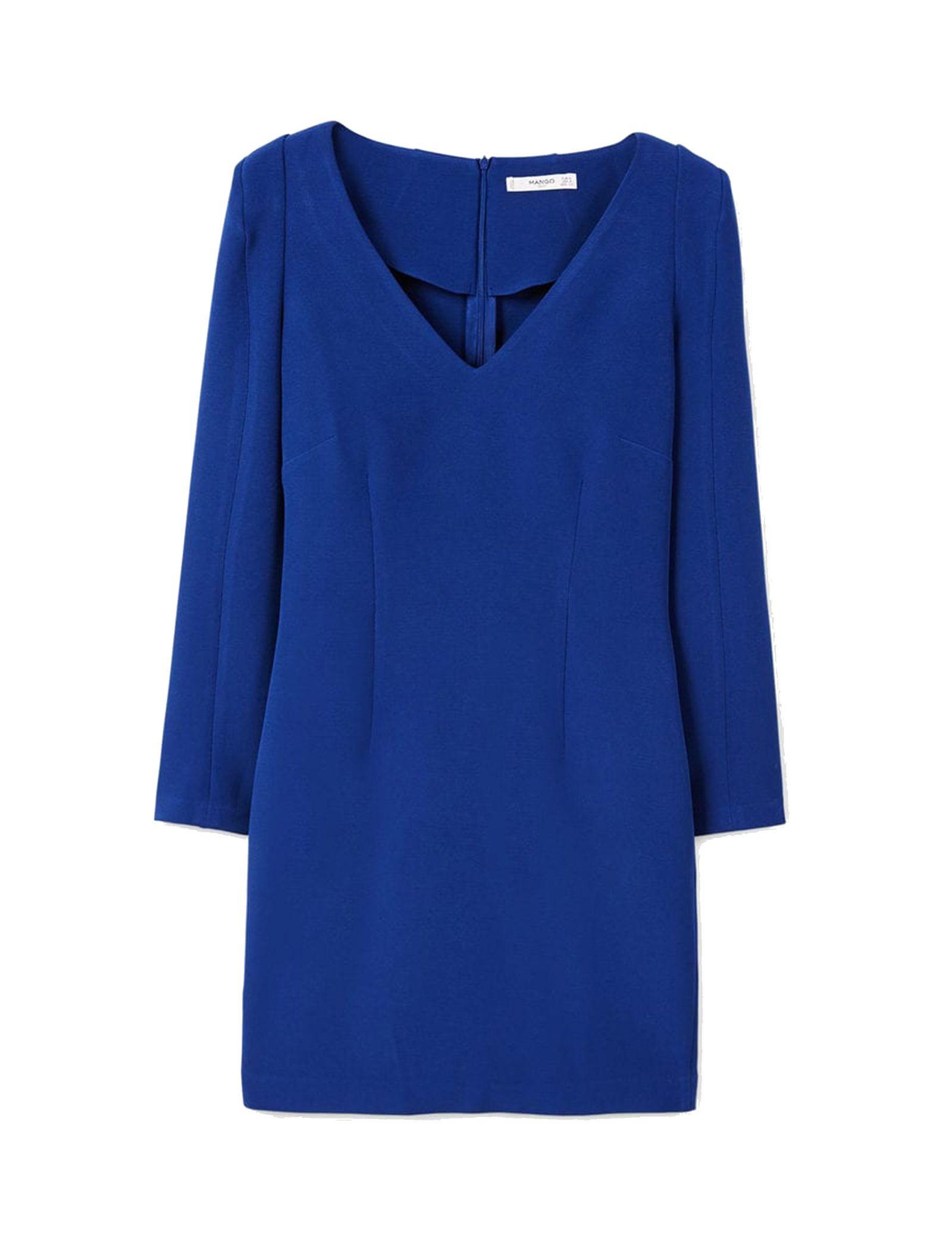 Woman Mini Dress - مانگو - آبي - 1