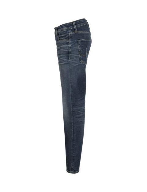 شلوار جین راسته مردانه - آبي - 4