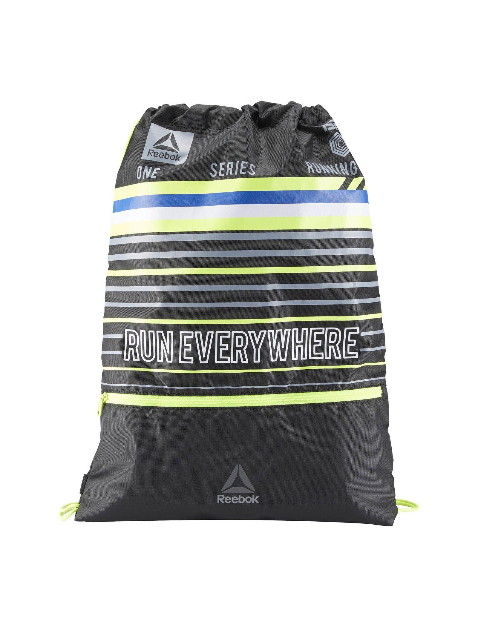 کوله پشتی ورزشی بزرگسال Running Drawstring - ریباک - مشکي و سبز فسفري - 1