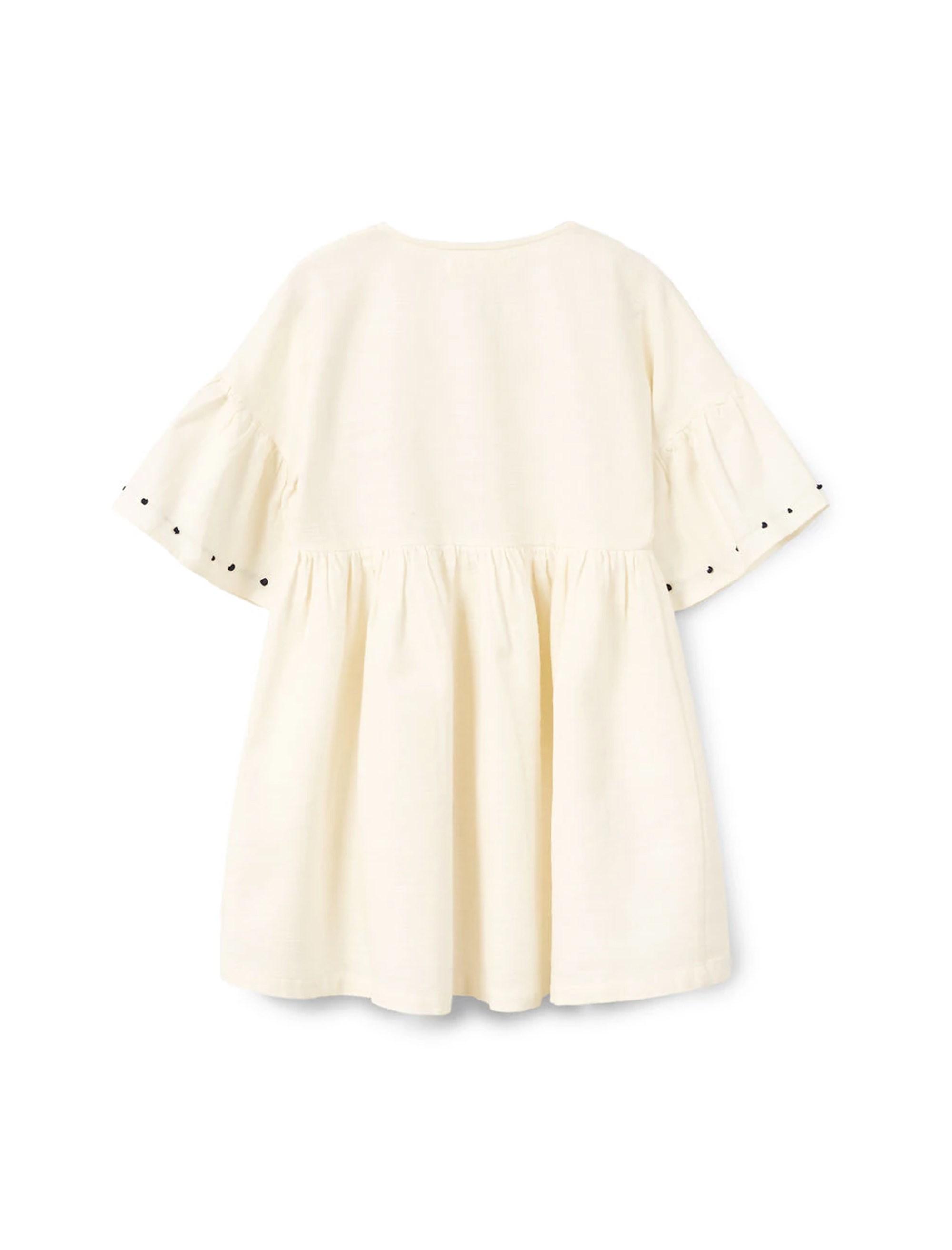 پیراهن نخی روزمره دخترانه - مانگو - سفيد - 2