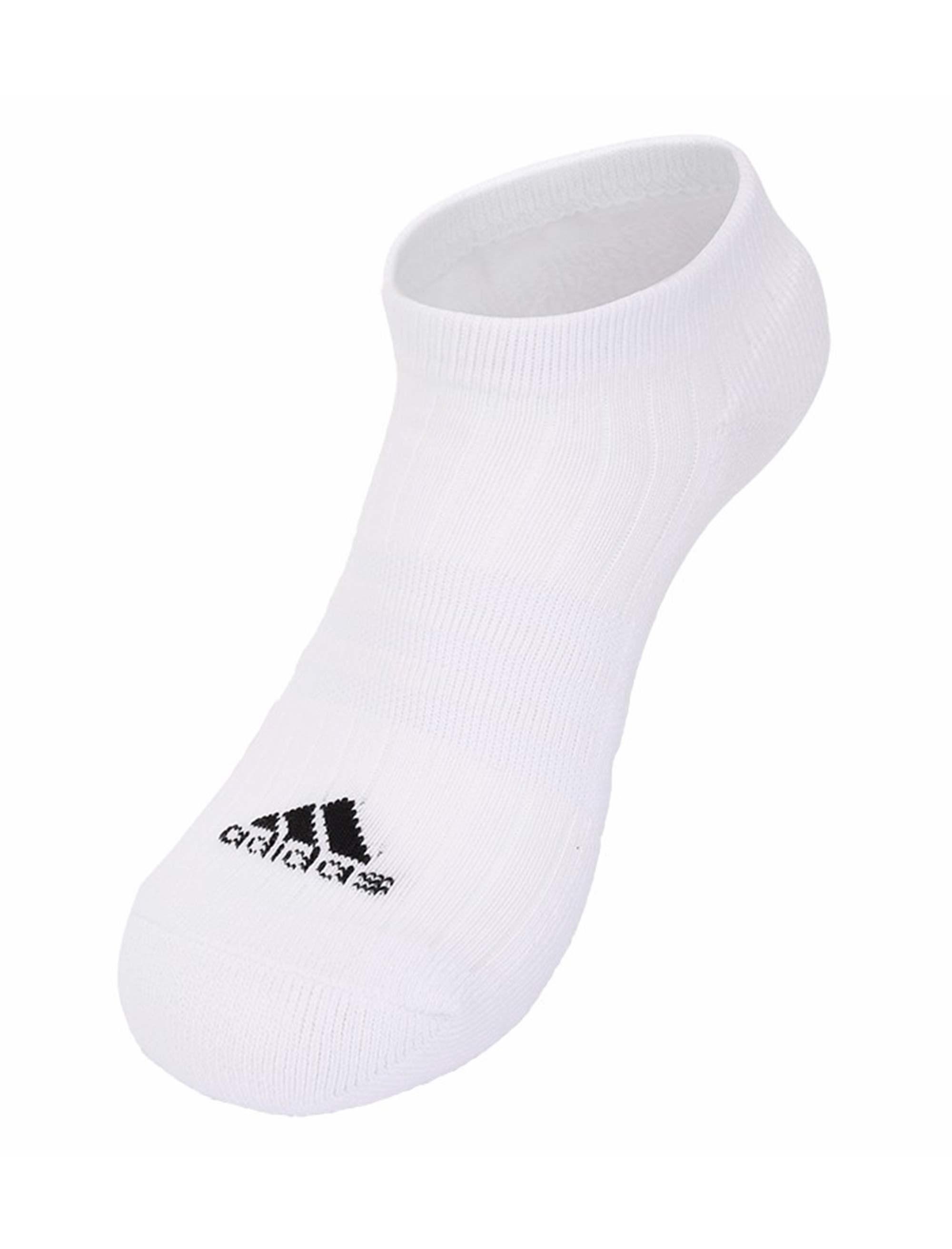 جوراب نخی بدون ساق بزرگسال بسته 3 عددی - آدیداس - طوسي/مشکي/سفيد - 2
