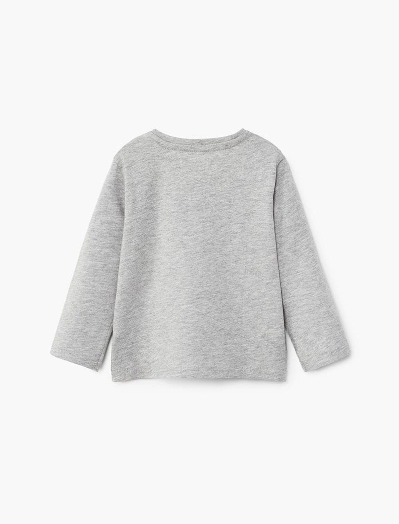 تی شرت و شلوار نخی پسرانه - مانگو - طوسي - 3