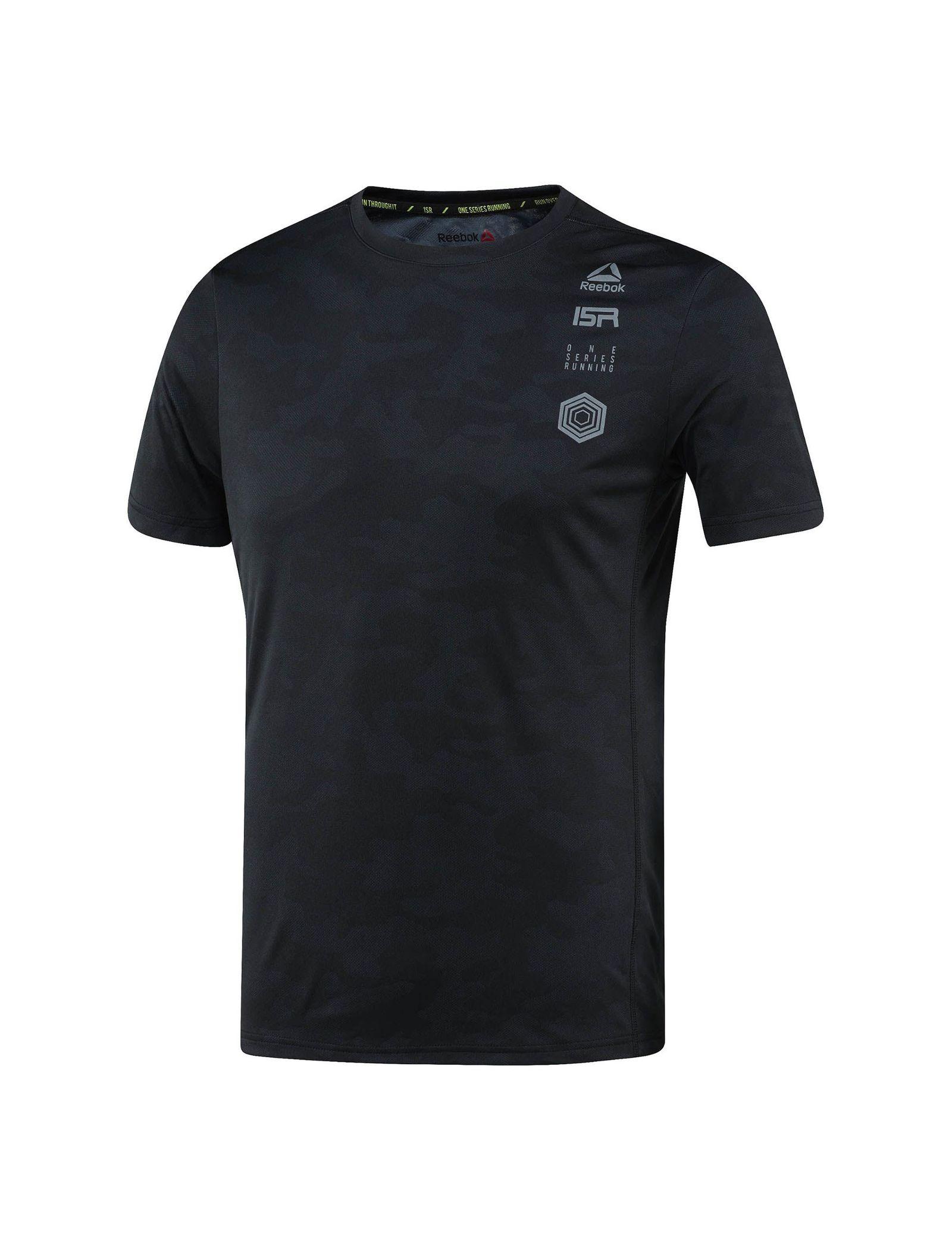 تی شرت ورزشی آستین کوتاه مردانه - ریباک - مشکي - 1
