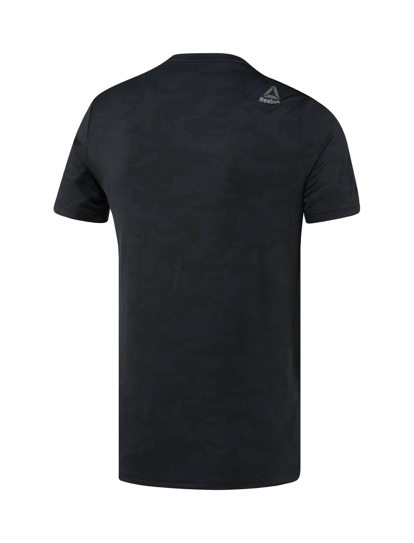 تی شرت ورزشی آستین کوتاه مردانه - ریباک - مشکي - 2