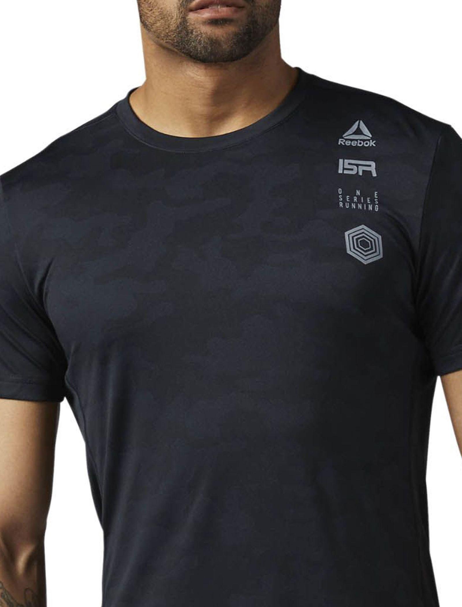 تی شرت ورزشی آستین کوتاه مردانه - ریباک - مشکي - 3