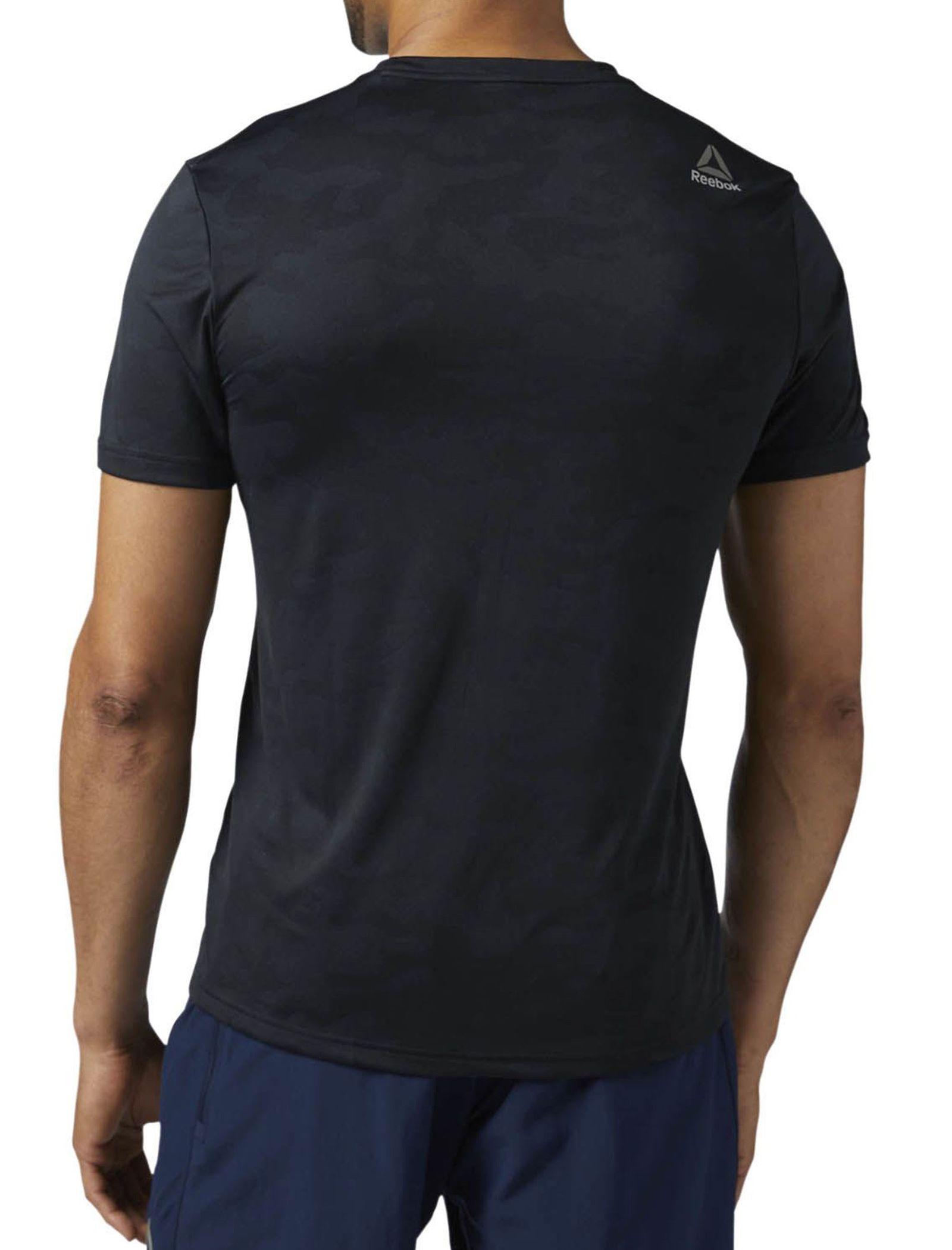 تی شرت ورزشی آستین کوتاه مردانه - ریباک - مشکي - 5