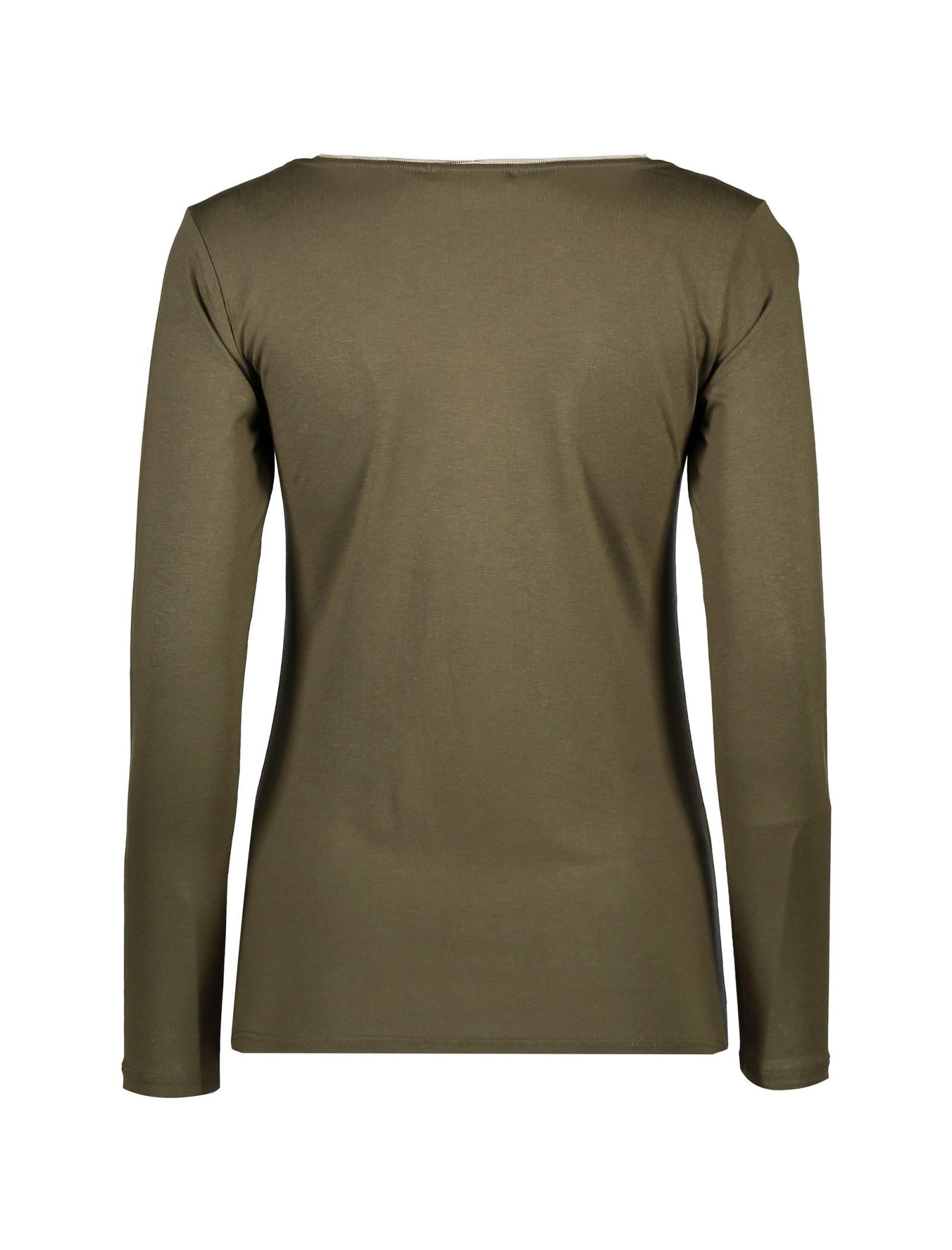 تی شرت ویسکوز آستین بلند زنانه - کوتون - خاکي - 2