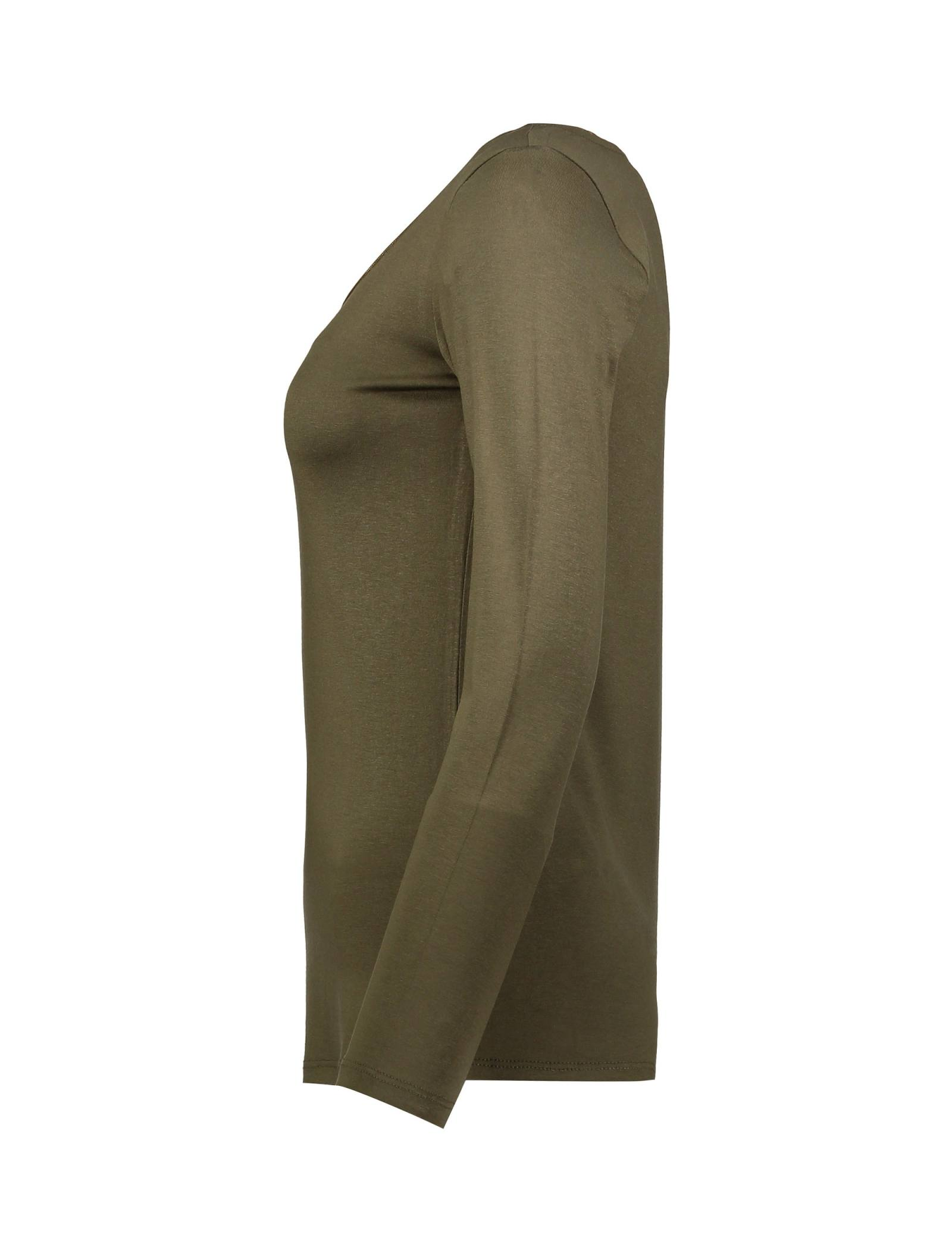 تی شرت ویسکوز آستین بلند زنانه - کوتون - خاکي - 3