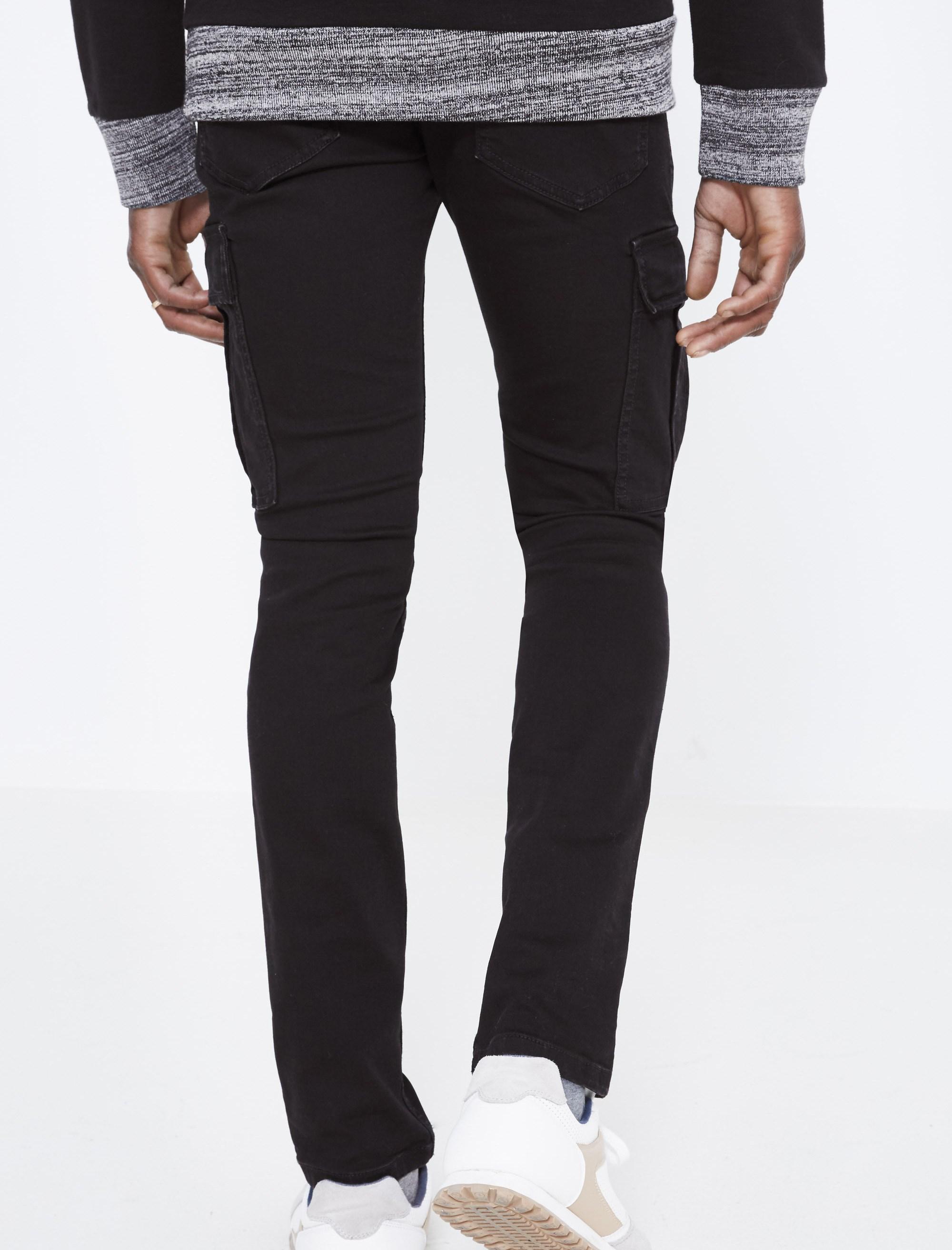 شلوار جین جذب مردانه - مشکي - 3