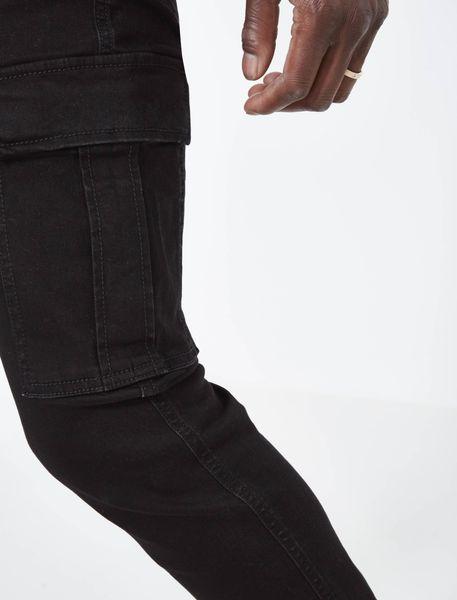 شلوار جین جذب مردانه - مشکي - 4