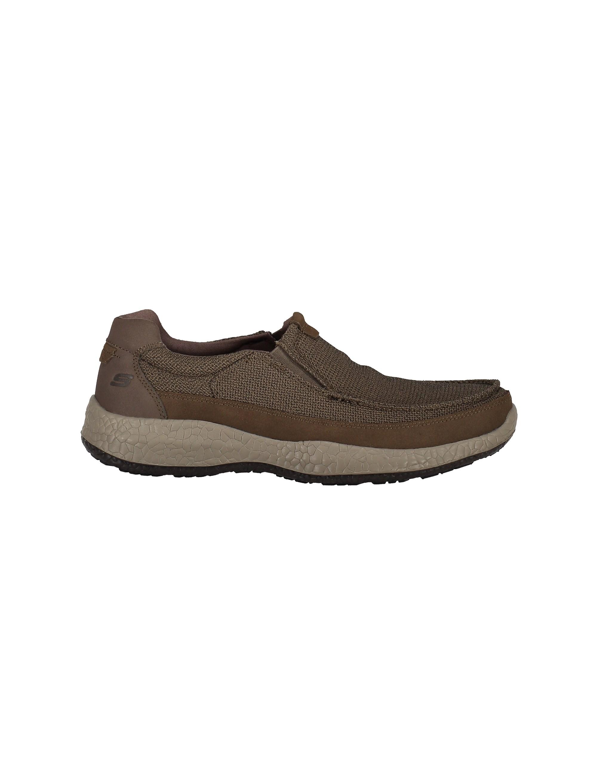 کفش راحتی پارچه ای مردانه Bursen Kinto - اسکچرز - قهوه اي روشن - 1