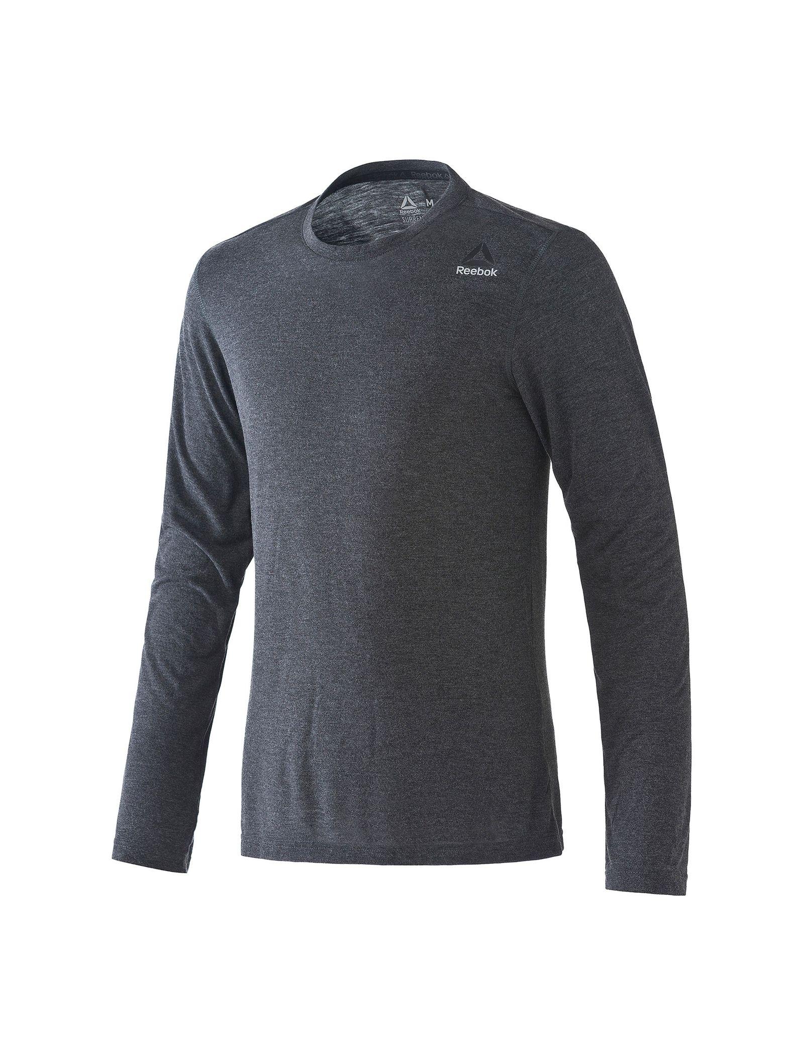 تی شرت ورزشی آستین بلند مردانه Workout Ready Supremium - ریباک - طوسي سرمه اي - 1