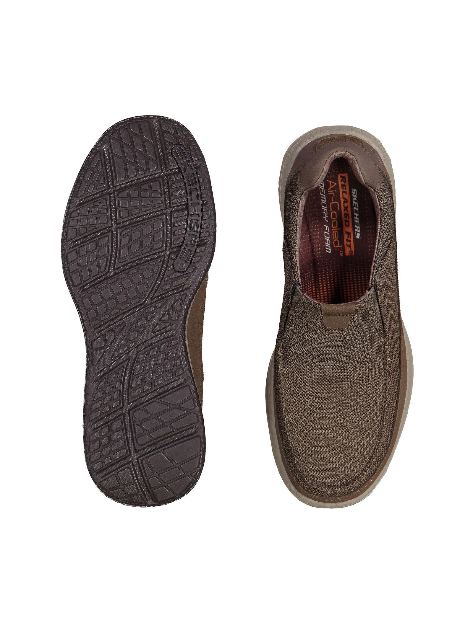 کفش راحتی پارچه ای مردانه Bursen Kinto - اسکچرز - قهوه اي روشن - 2