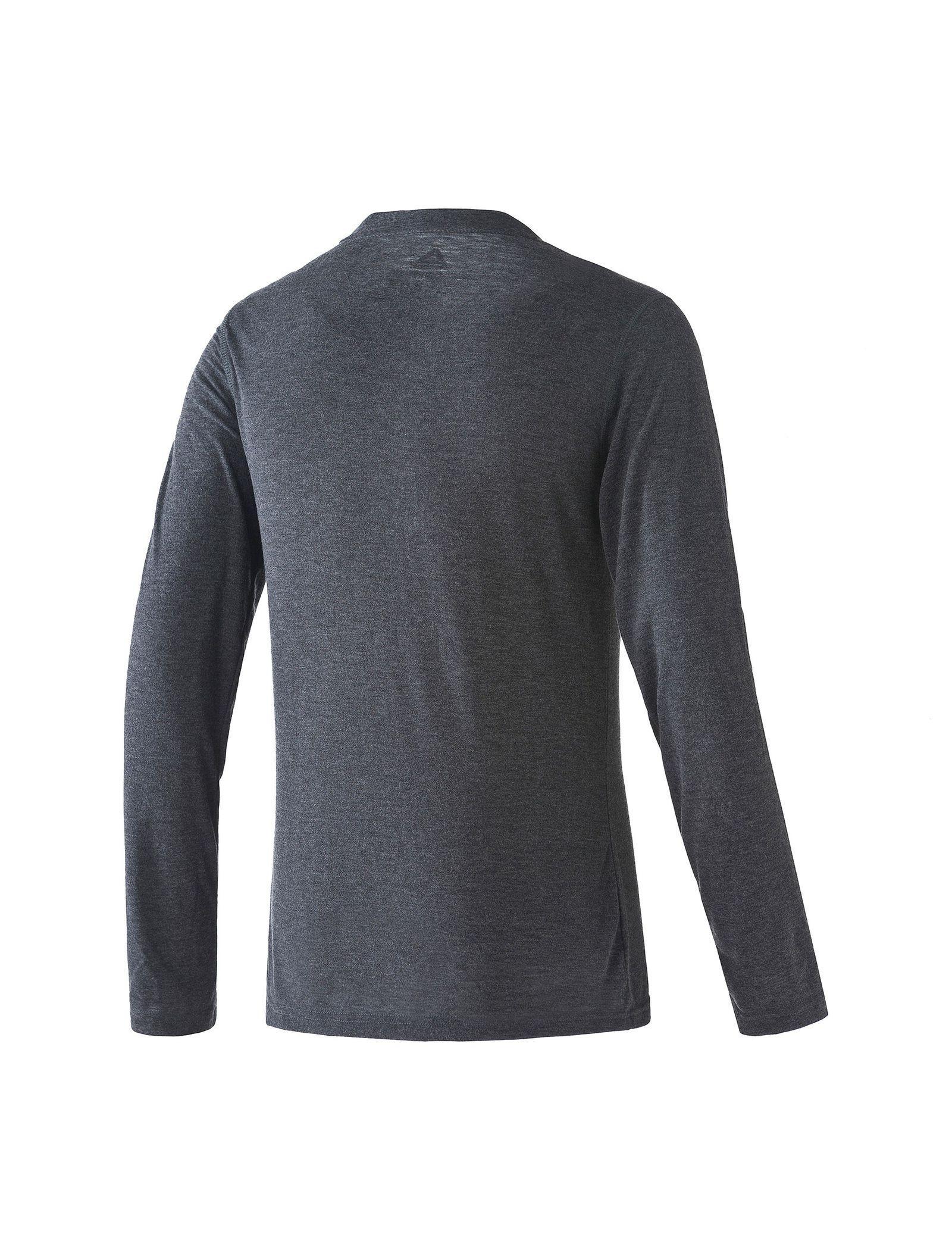 تی شرت ورزشی آستین بلند مردانه Workout Ready Supremium - ریباک - طوسي سرمه اي - 2