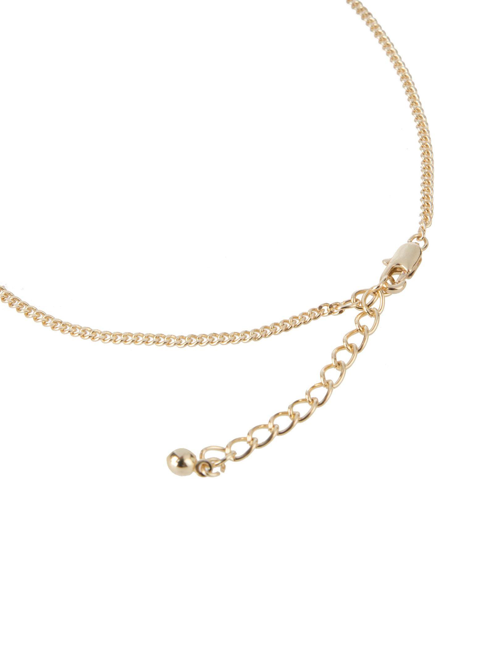 گردبند زنجیری زنانه - پی سز - طلايي - 3
