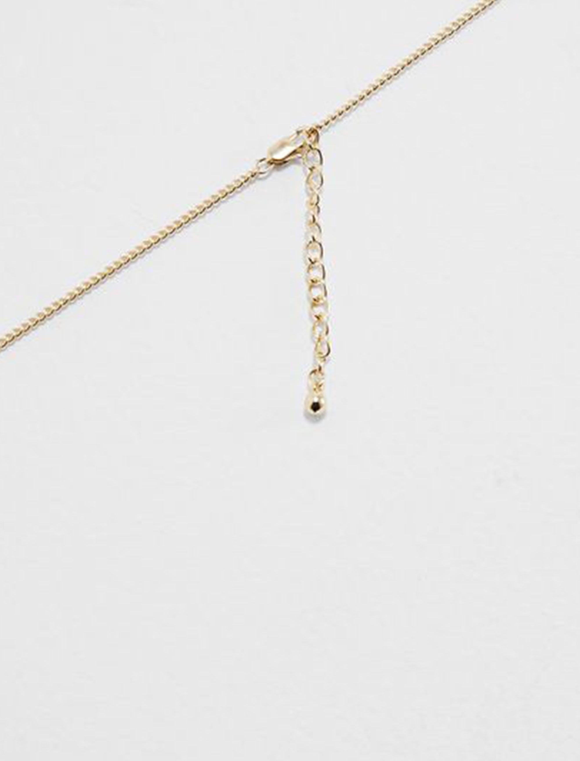 گردبند زنجیری زنانه - پی سز - طلايي - 4