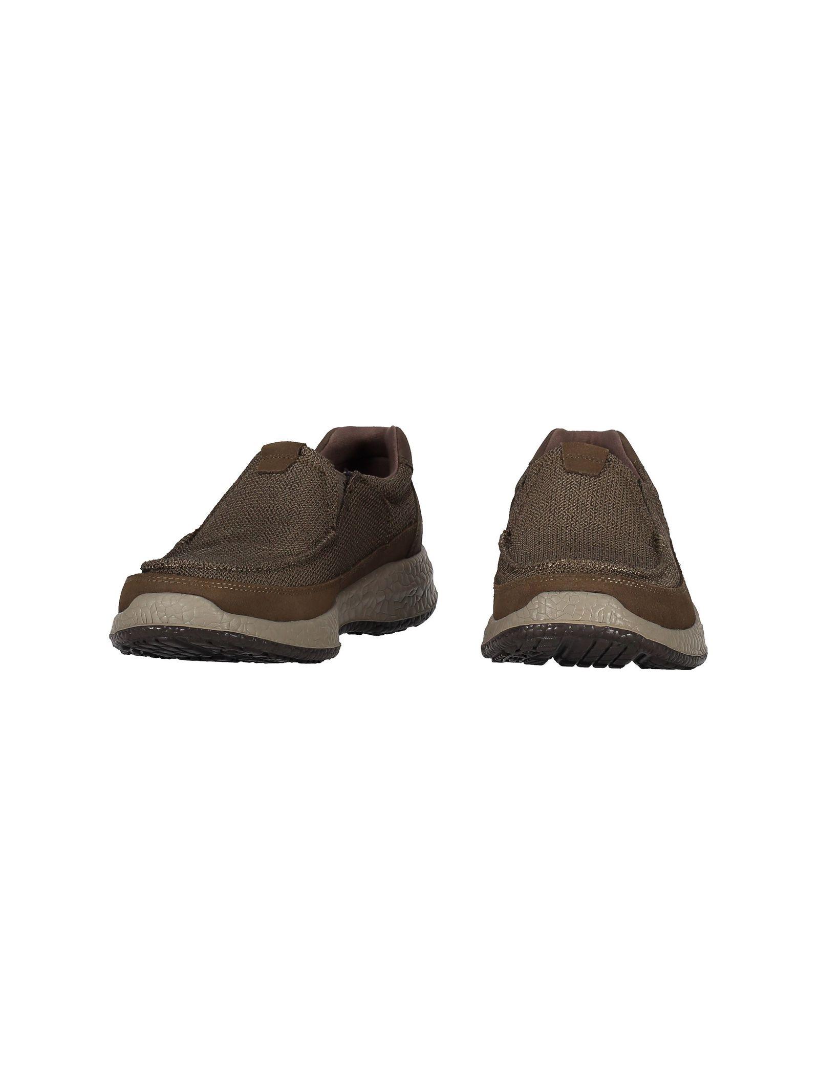 کفش راحتی پارچه ای مردانه Bursen Kinto - اسکچرز - قهوه اي روشن - 5