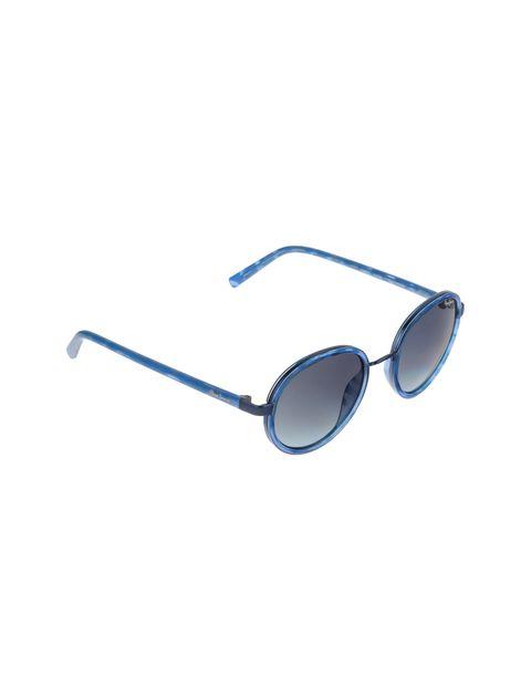 عینک آفتابی گرد زنانه - آبي - 2