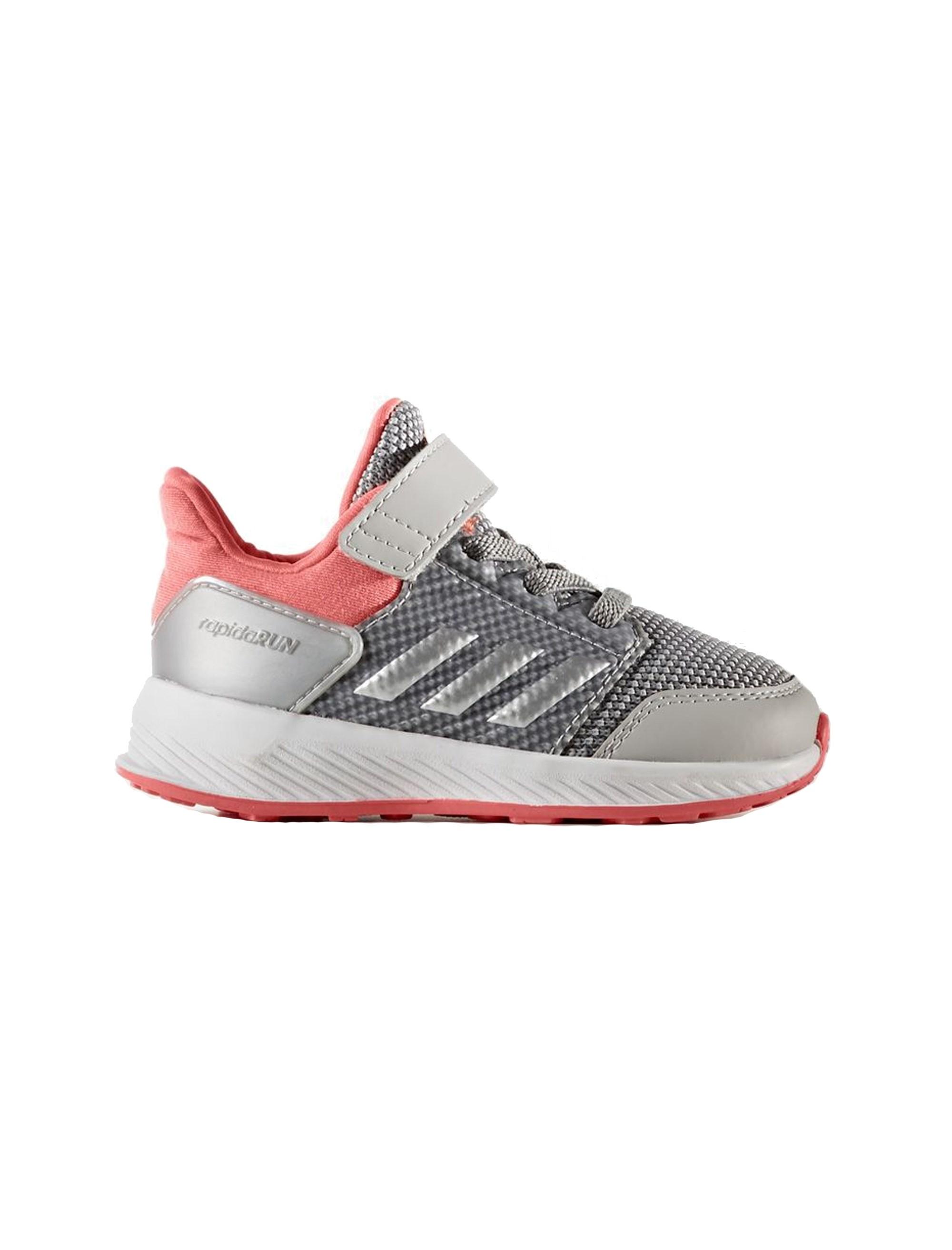 کفش دویدن بندی پسرانه RapidaRun - آدیداس - نقره اي و صورتي - 1