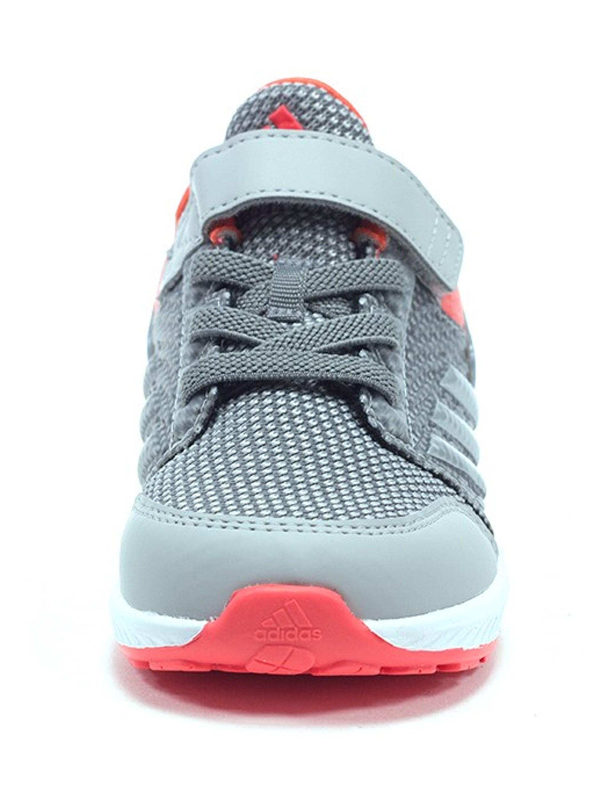 کفش دویدن بندی پسرانه RapidaRun - آدیداس - نقره اي و صورتي - 3