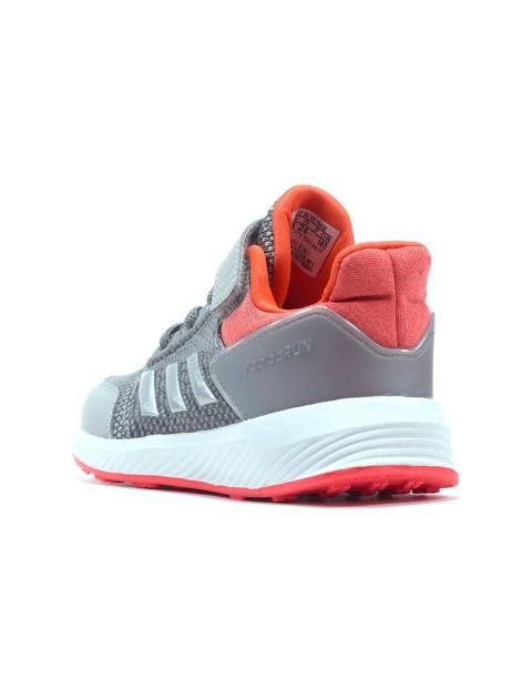 کفش دویدن بندی پسرانه RapidaRun - آدیداس - نقره اي و صورتي - 4