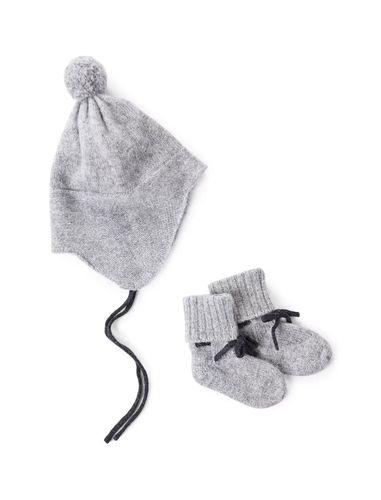 کلاه و جوراب نوزادی زمستانی - مانگو