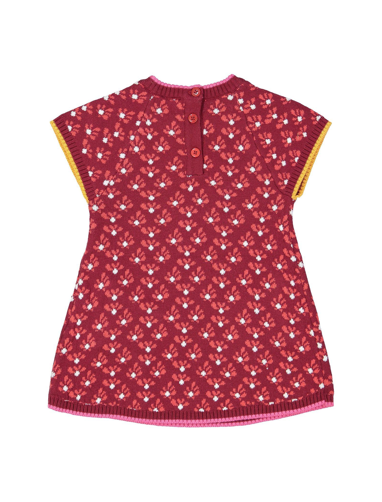 پیراهن بافت نوزادی - ارکسترا - قرمز - 2