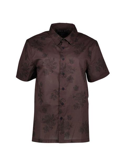 پیراهن نخی یقه برگردان مردانه - نیو لوک - قهوه اي - 1
