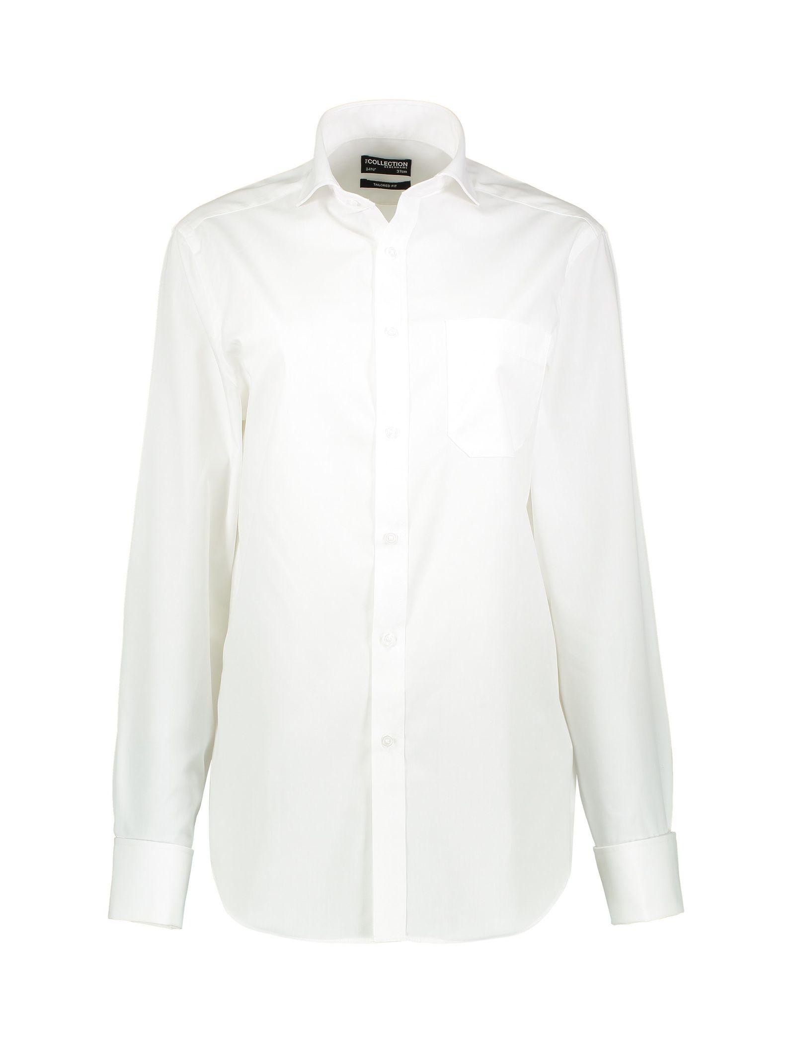 پیراهن آستین بلند مردانه - کالکشن - سفيد - 1