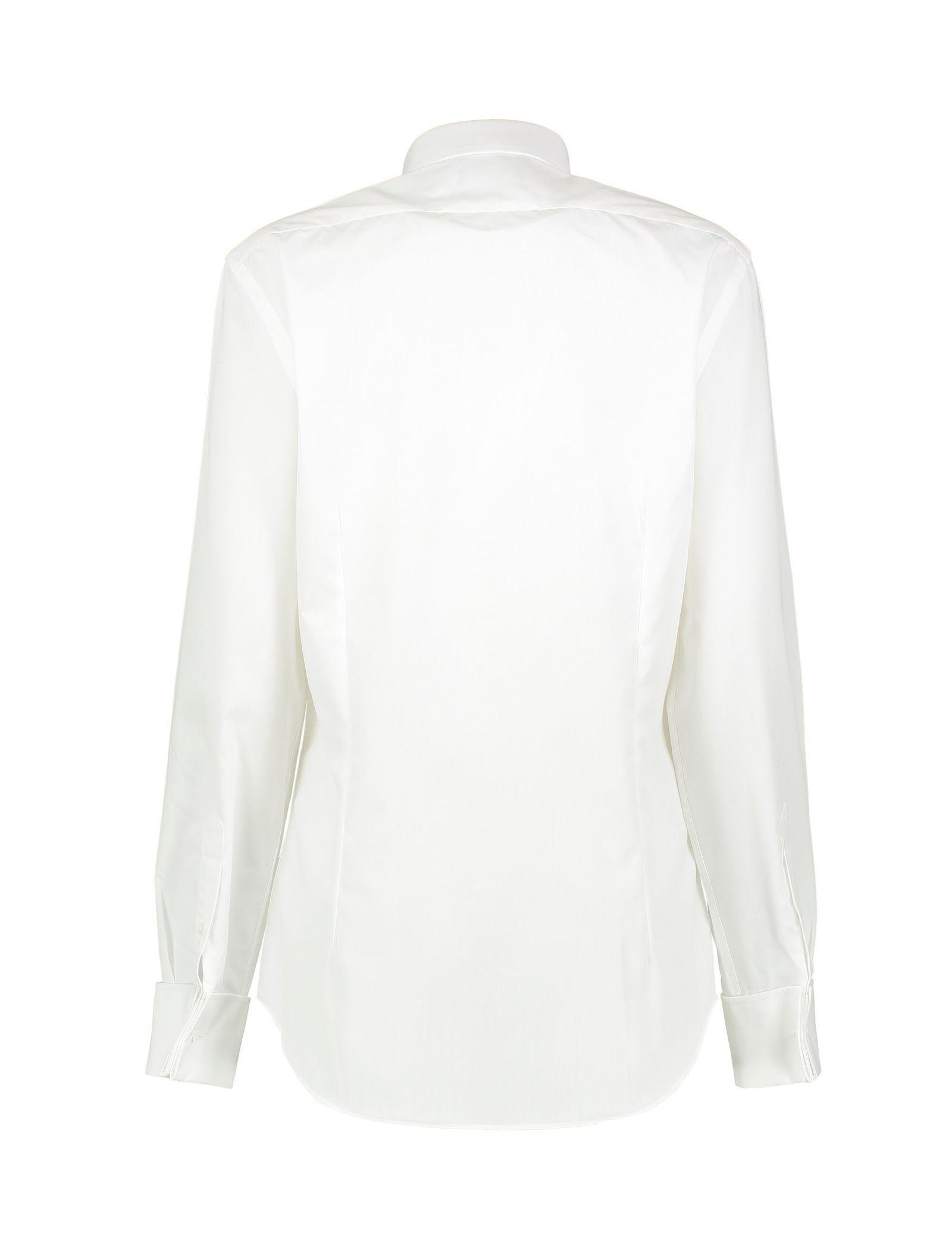 پیراهن آستین بلند مردانه - کالکشن - سفيد - 3
