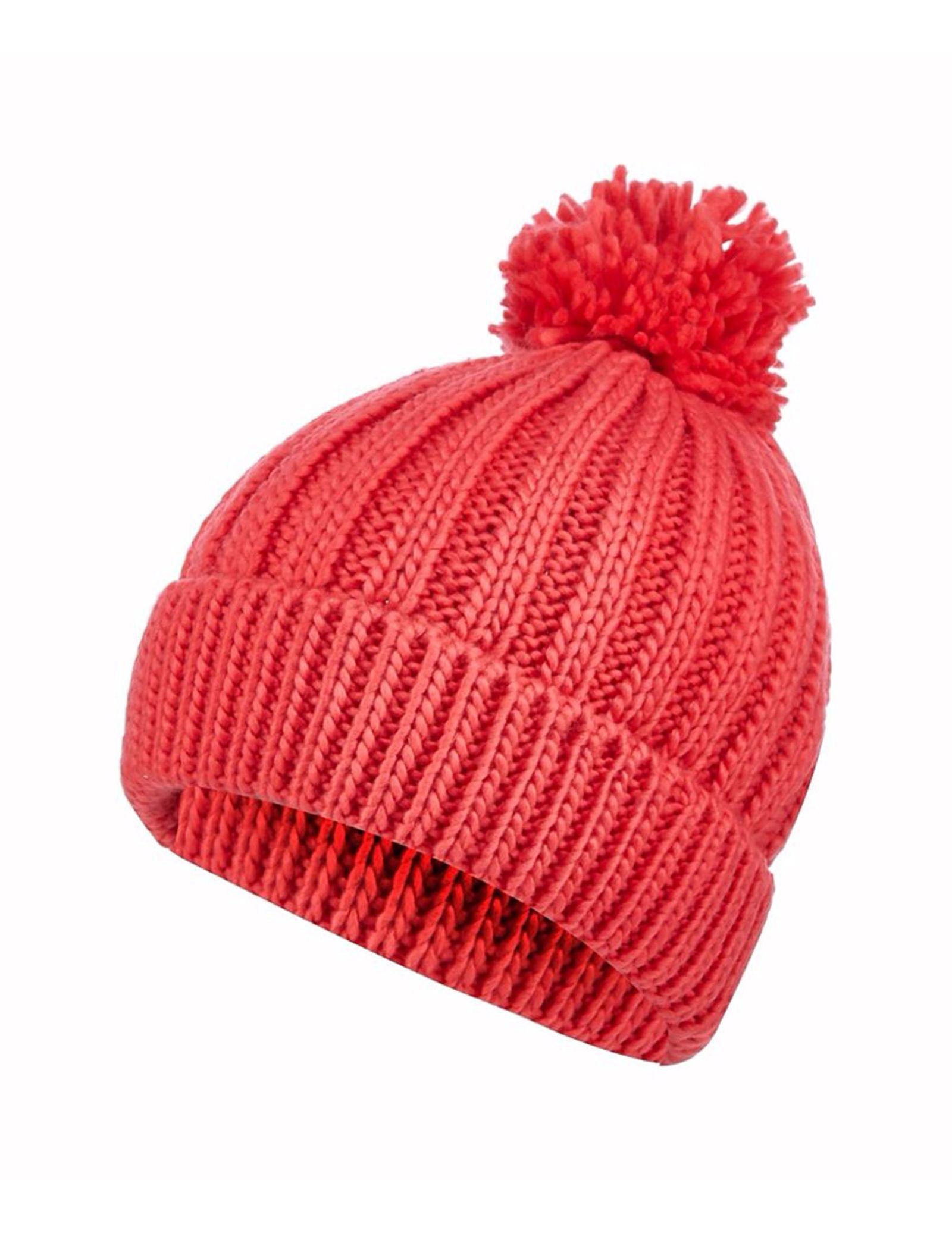 کلاه بافتنی زنانه - رد هرینگ - صورتي - 1