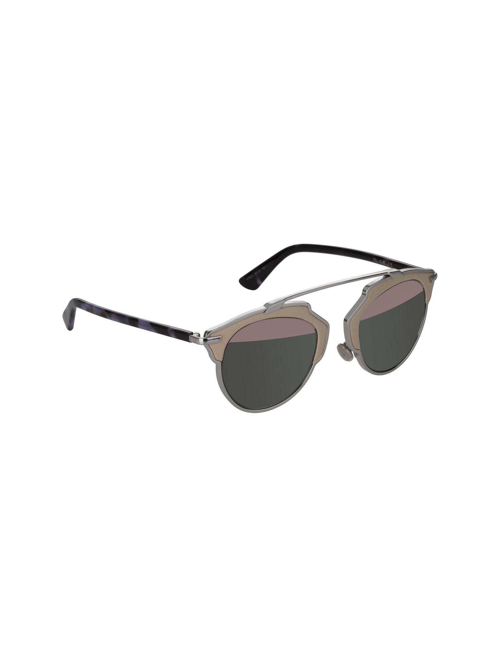 عینک آفتابی پنتوس زنانه - دیور - بژ و نقره اي - 2