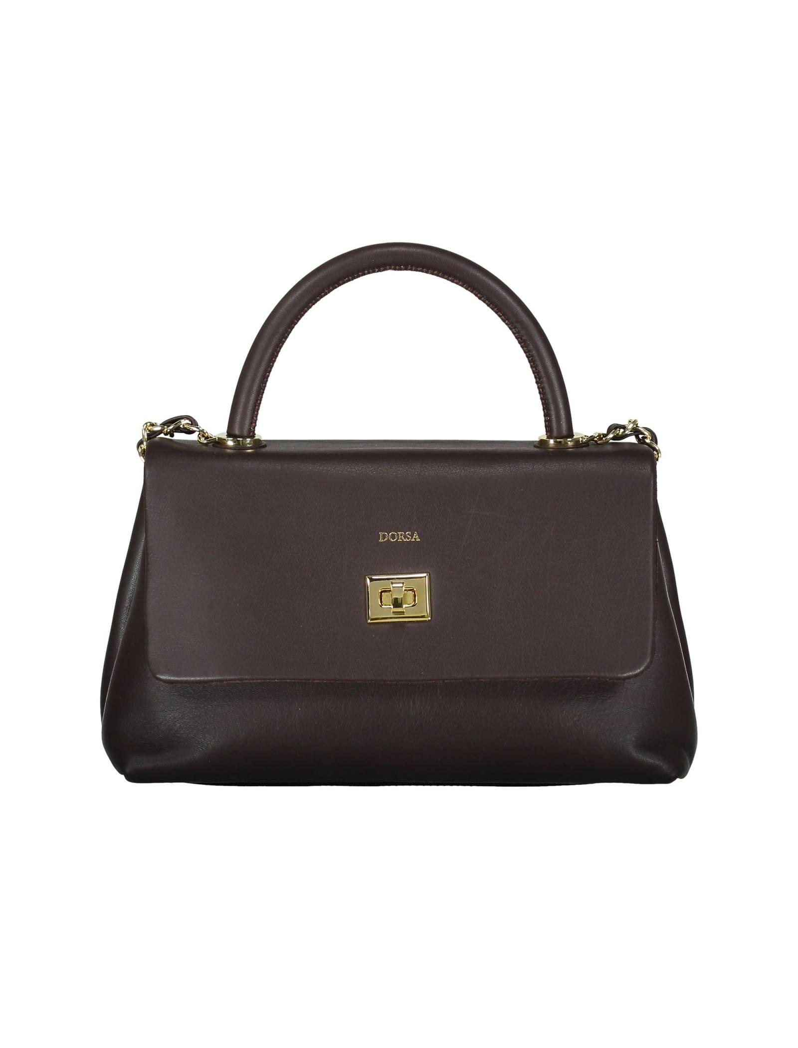 کیف دستی چرم روزمره زنانه - درسا - قهوه اي - 1